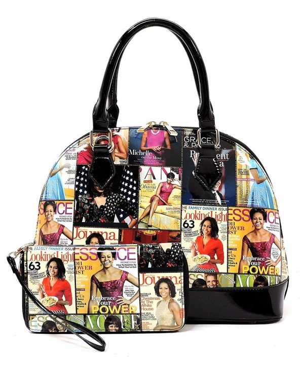 Magazine Collage Satchel Handbag Michelle