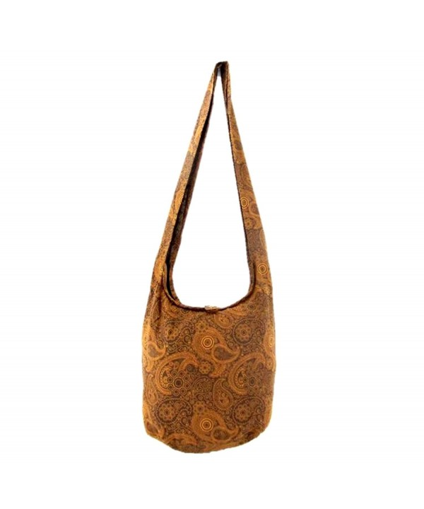 Hippie Crossbody Shoulder Paisley Cinnamon