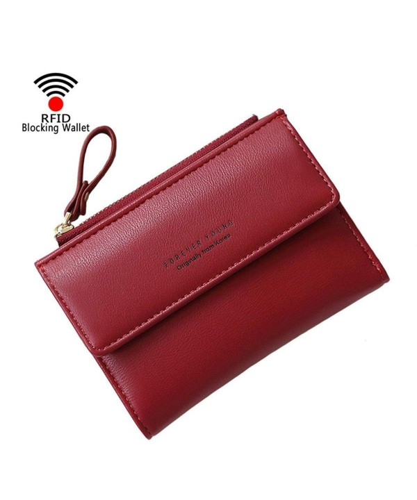 Wallet Bifold Leather Blocking Window