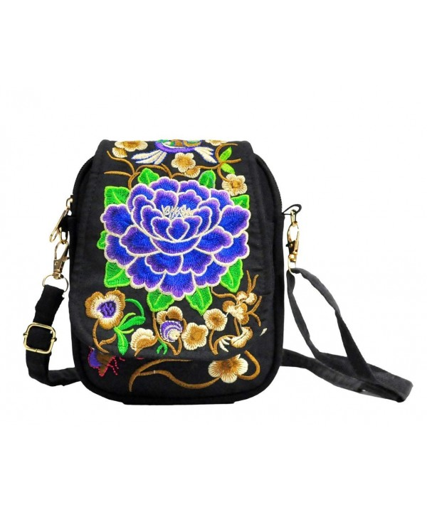 LeaLac Embroidered Shoulder Messenger Crossbody