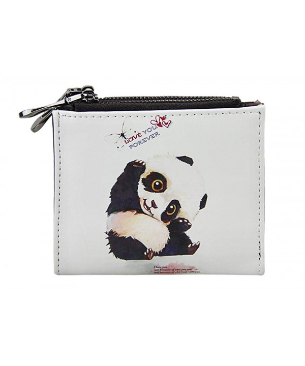 Cartoon Leather Bi fold Holders Pouches