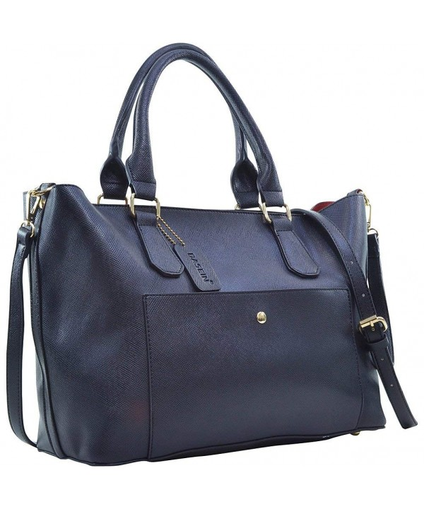 Dasein Satchel Front Pocket Black