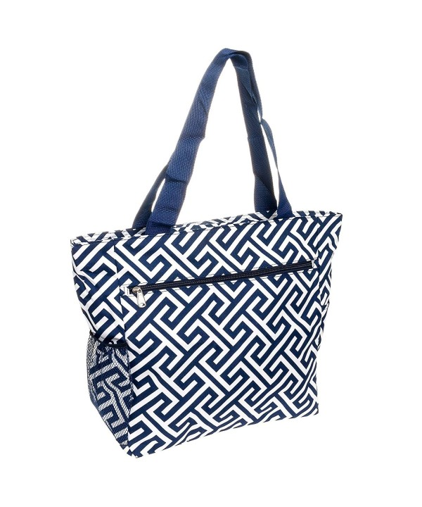 Greek Key Travel Tote Bag