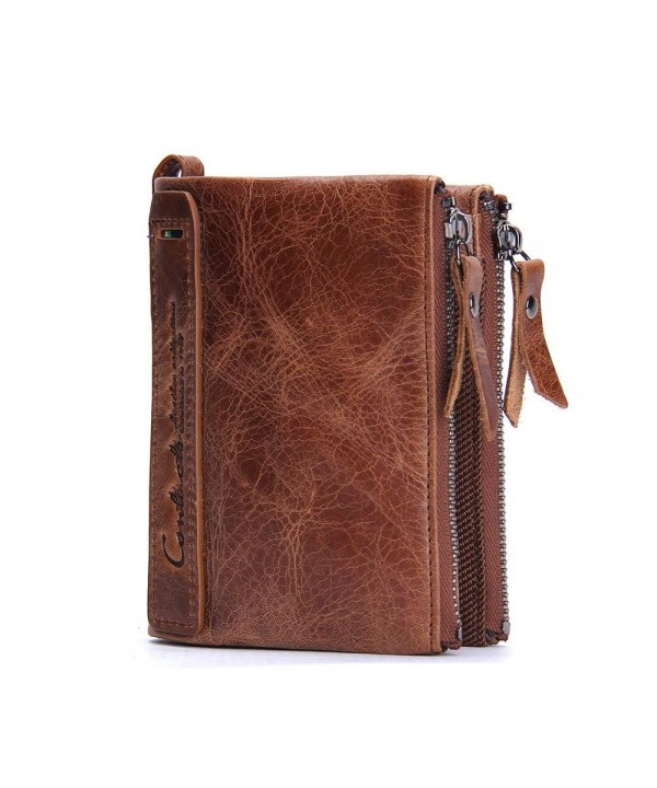 DARUNs Genuine Leather Wallet Double