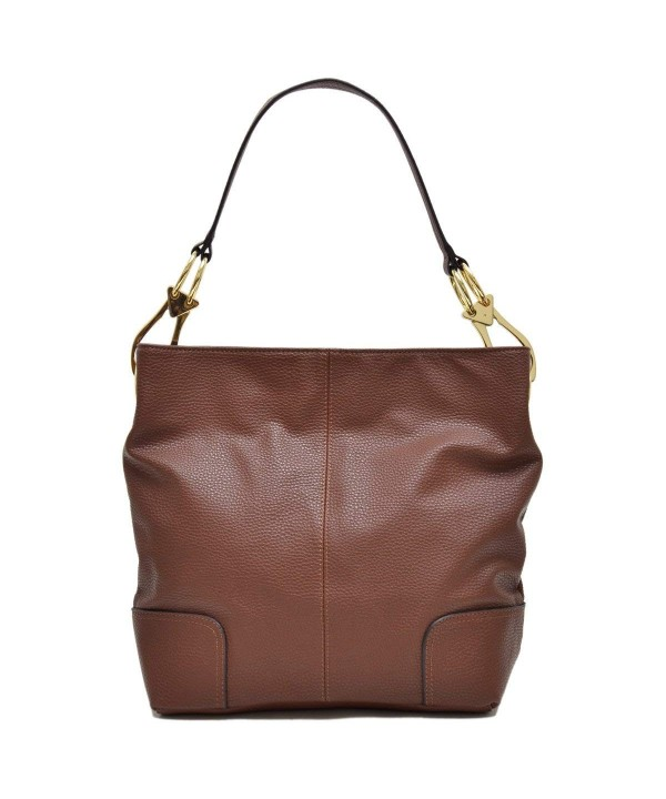 Dasein Classic Leather Shoulder Handbag