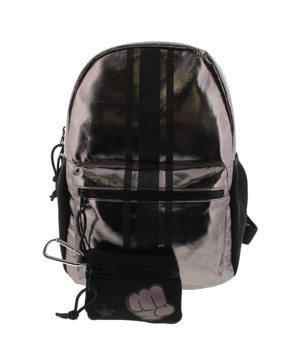 Ideology Womens Metallic Striped Backpack