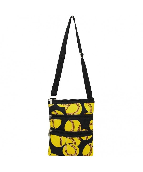 Softball Pitch Print Messenger Hipster