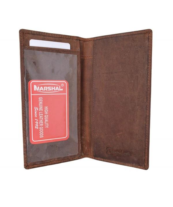 Blocking Vintage Genuine Leather Checkbook