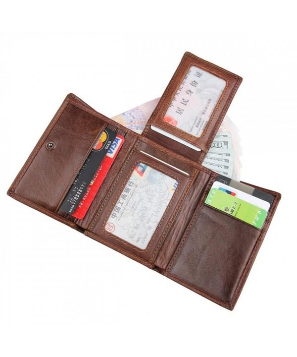 JJNUSA Blocking Genuine Wallet Leather