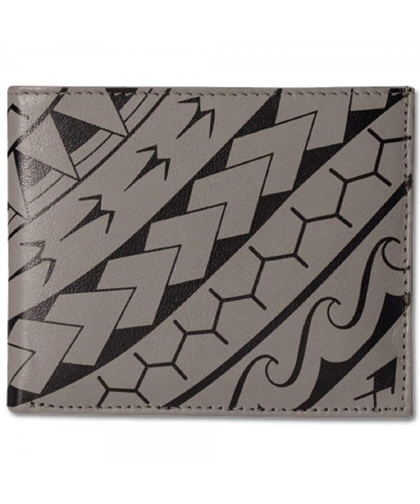Polynesian Tattoo Bifold Genuine Leather