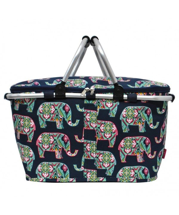 Floral Elephant Insulated Picnic Basket