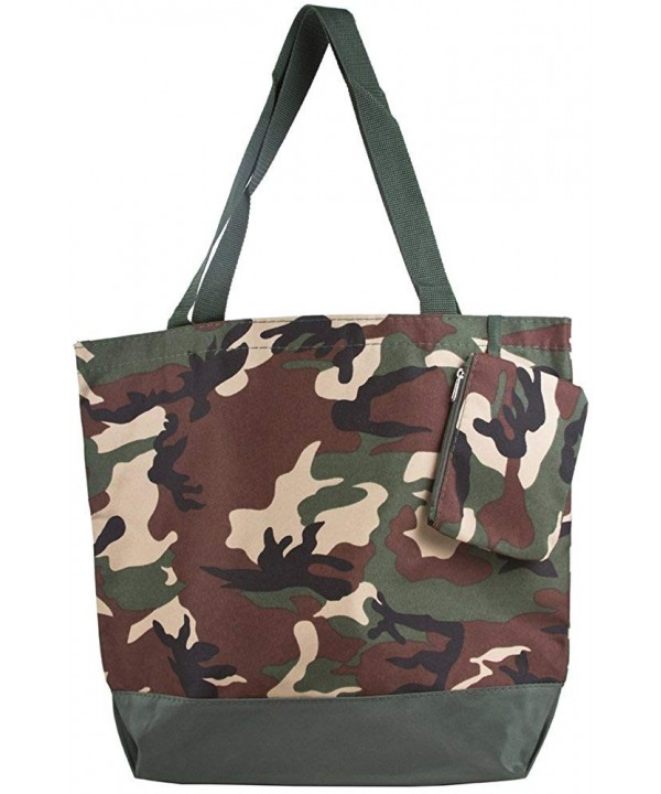 Ever Moda Camo Large Tote
