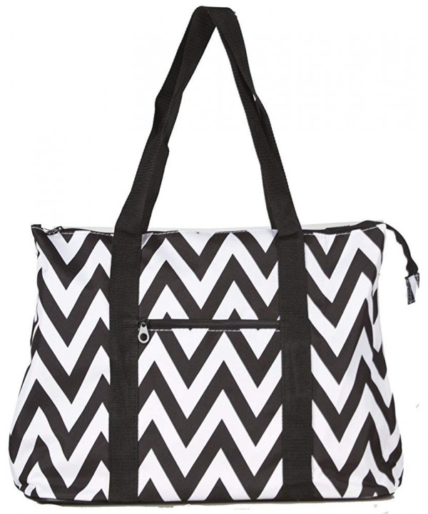 Ever Moda Chevron Tote X Large
