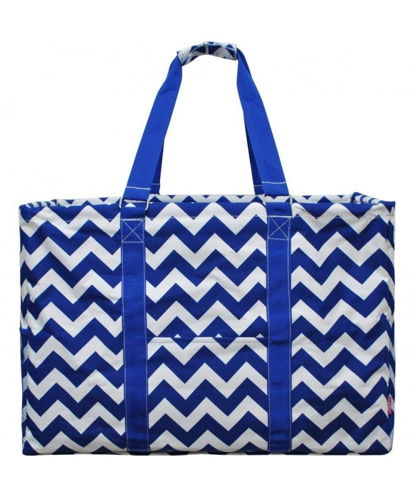 Royal White Chevron Shopping Utility
