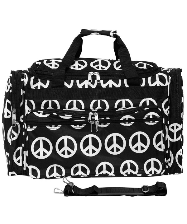 World Traveler Duffle Black White