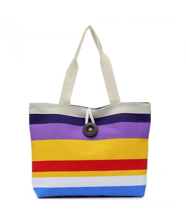 YJYDADA Colored stripes Shopping Shoulder