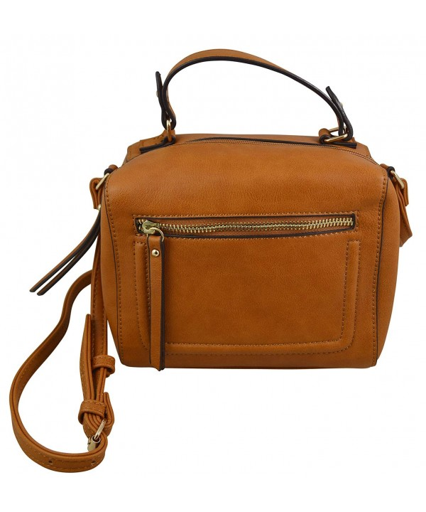 Katie Leather Crossbody Elegant Satchel