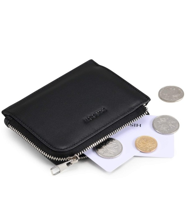 HISCOW Metal Zipper Sector Wallet
