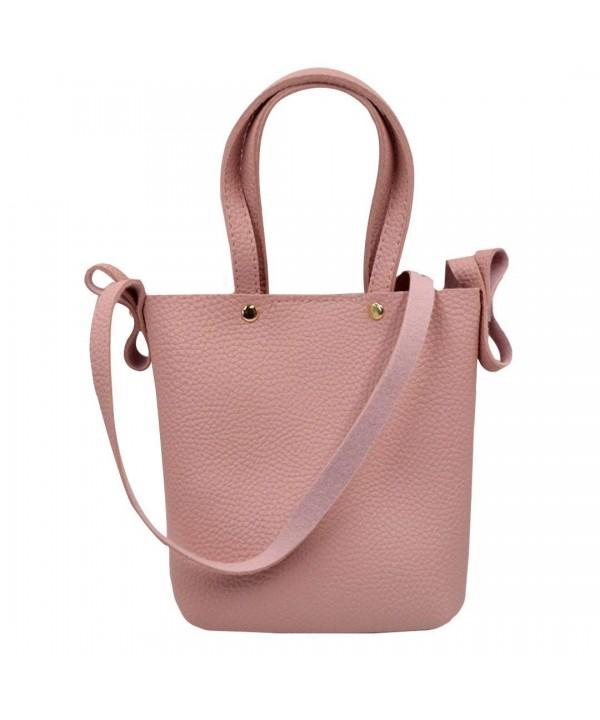 597a063f63c Womens Girls Mini Tote Bag Handbag Leisure Wallet Shoulder Bag Beach  Crossbody Bag Coin Purse - pink - CA184SEN329