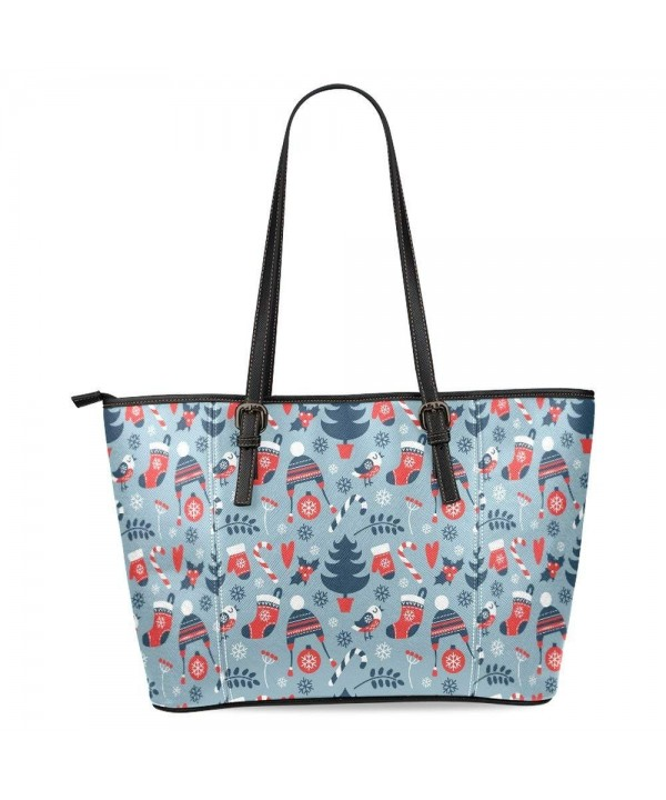 InterestPrint Christmas Snowflakes Shoulder Handbags