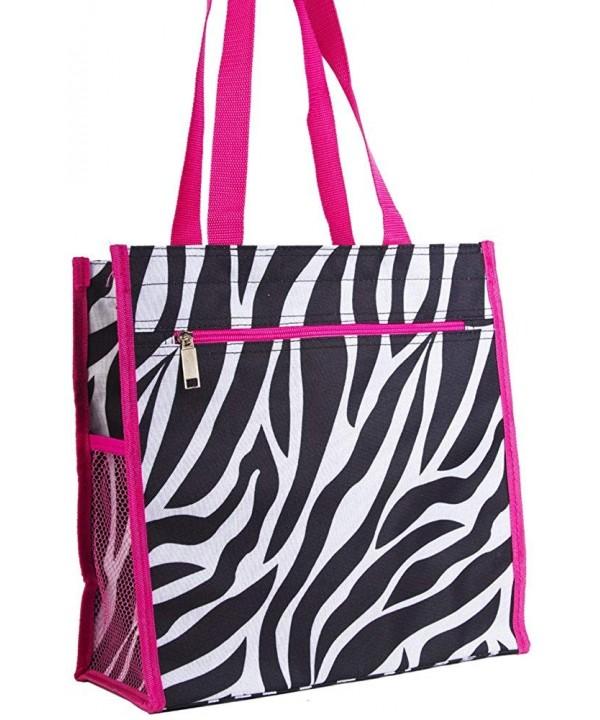 Garden Zebra Print Tote Bag