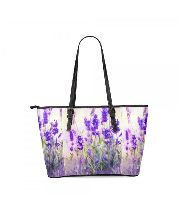 InterestPrint Lavender Romantic Leather Shoulder
