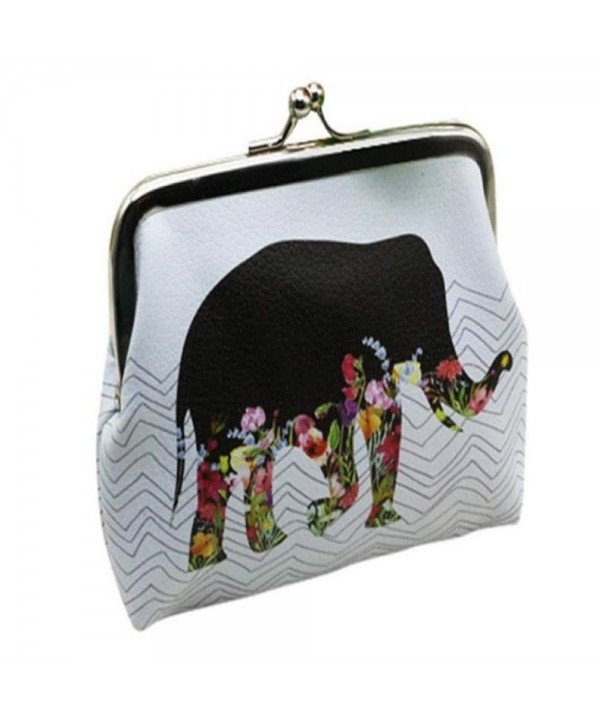 Elephant Pattern Wallets Minimalist Handbag