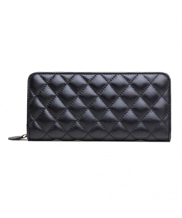 ZENTEII Genuine Leather Quilted Pattern