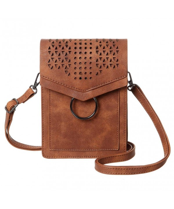 MINICAT Portable Crossbody Wallet Brown Thicker