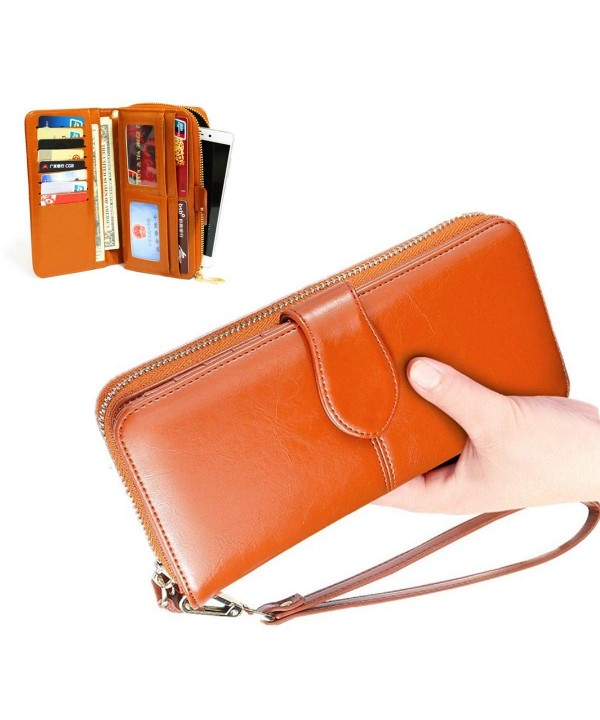 Wallets Leather Blocking Organizer Capacity