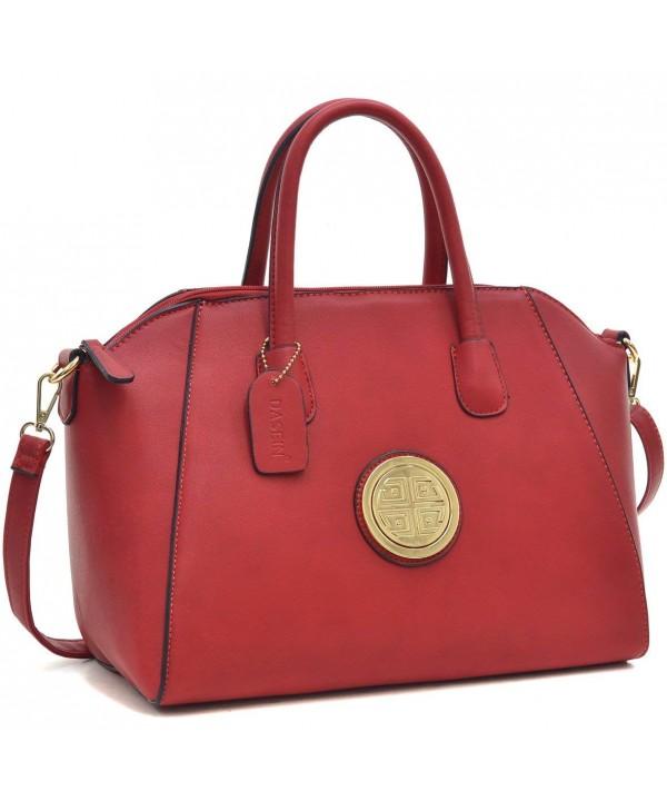 beliebte Marke viele modisch neuer Stil & Luxus Carry All Chic large Weekender Tote Designer Tote Bag Travel Purse Satchel  Handbag - 8906- Red - C711Y64GR05