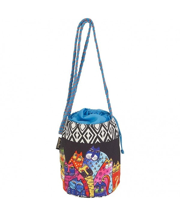 Laurel Burch Drawstring Crossbody Black