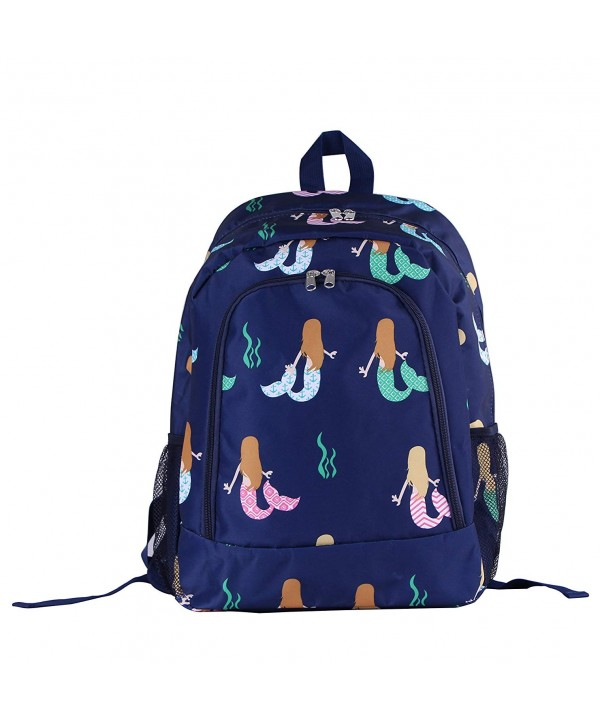 29 BL backpack Background mermaid Pattern