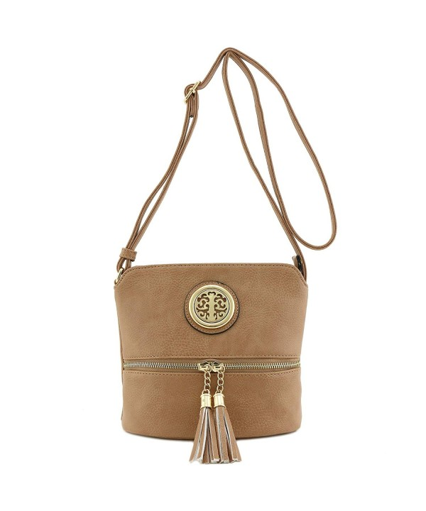 Tassel Accent Small Crossbody Emblem