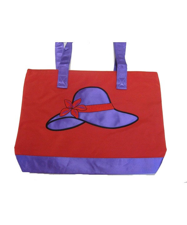 Red Tote Purple Hat Design
