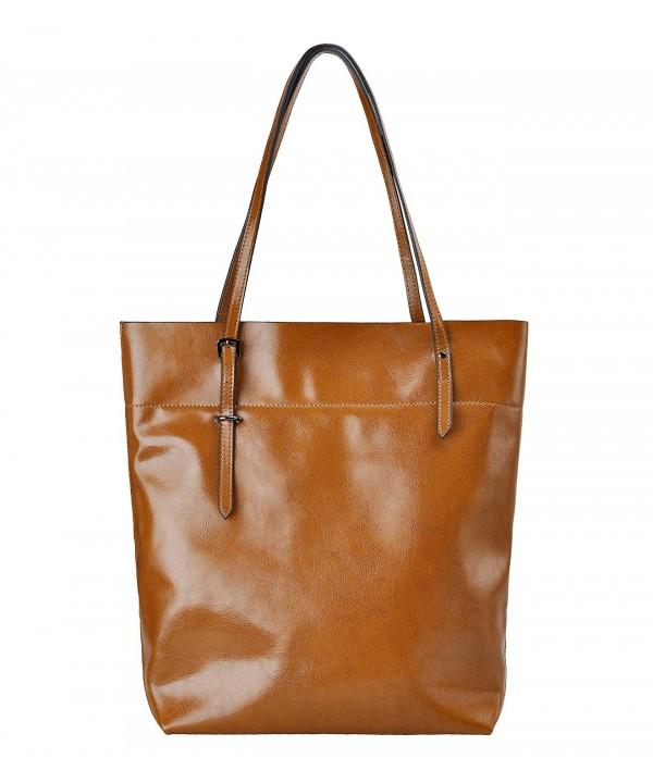 ZLYC Shoulder Leather Handbag Capacity