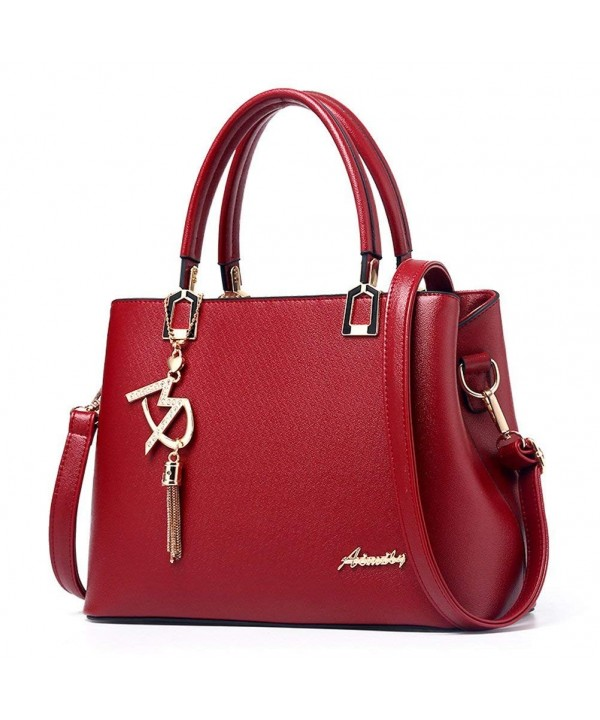 Donalworld Handbag Leather Shoulder Handle