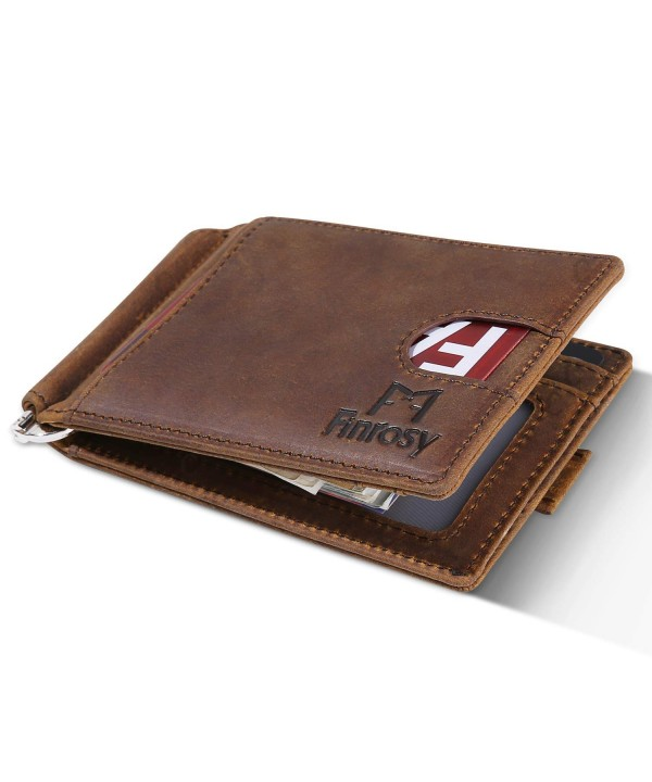 Finrosy Leather Wallet Blocking Wallets