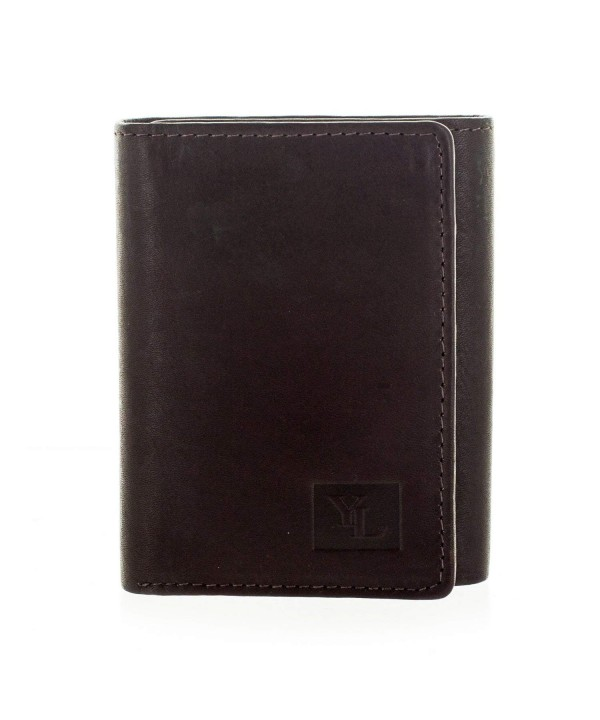 Fashion Leather Trifold Wallet Brown