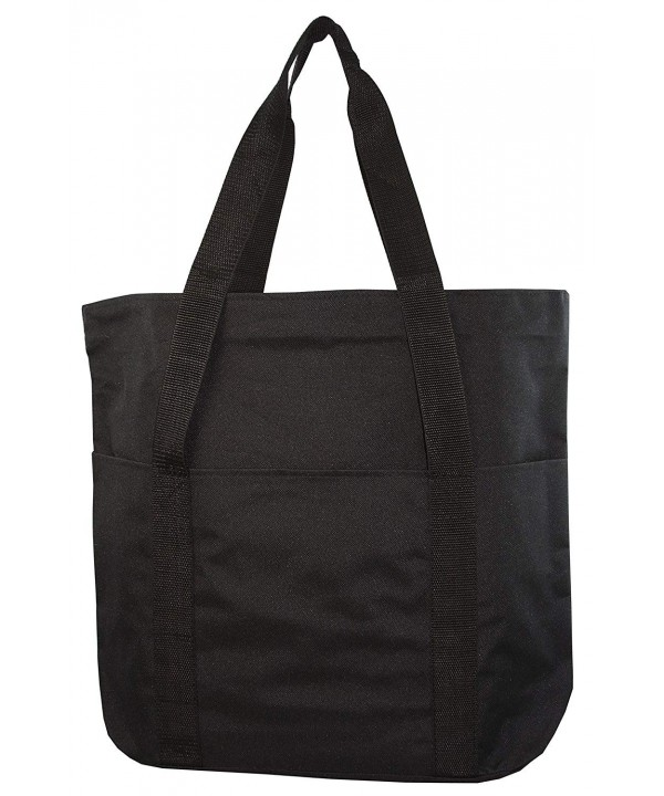 Large Spacious Poly Zipper Tote