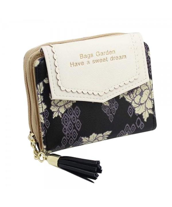 Wallet Bifold Floral Clutch Tassels