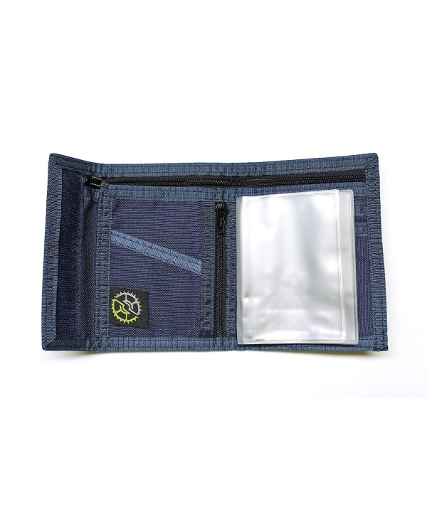 Nylon Bifold Wallet Zippered Pocket
