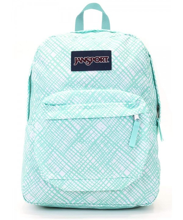 Jansport Superbreak Backpack Aqua Jagged