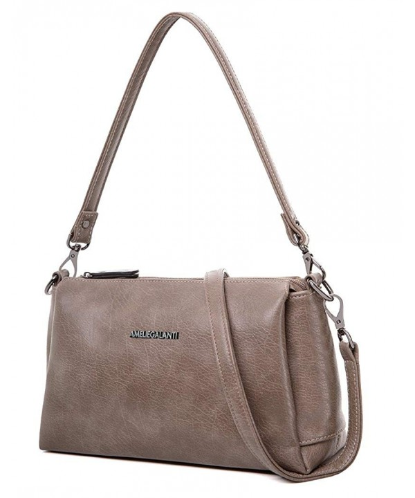 Shoulder Zipper Crossbody Satchel Leather