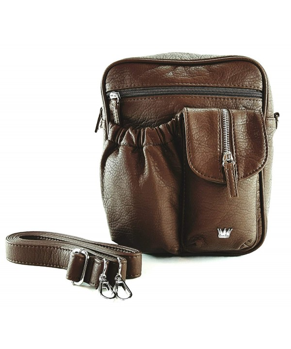 Purse King Orchid Brown Cross