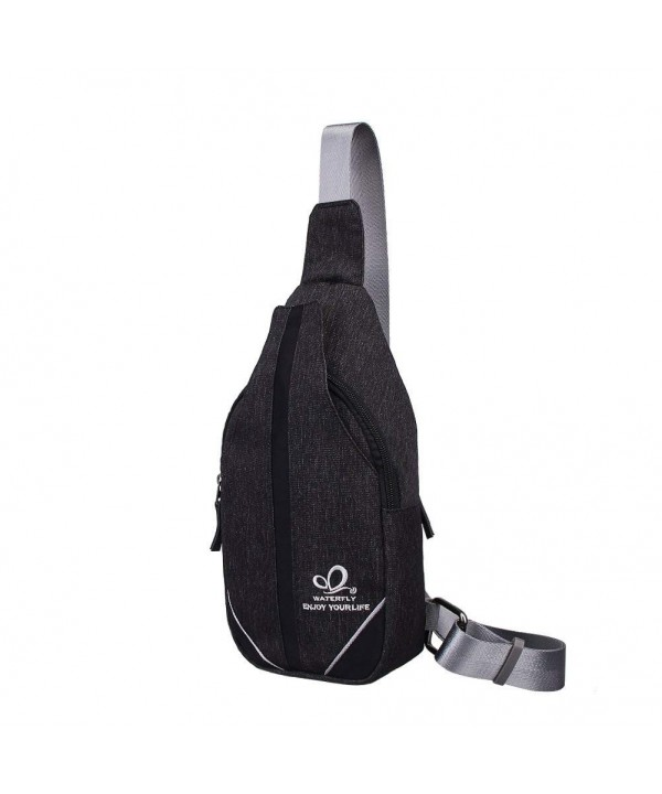 WATERFLY Canvas Travel Crossbody Backpack