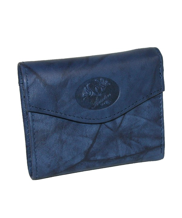 Buxton Heiress Pik Me Up Mini Trifold Navy