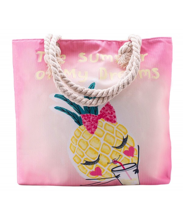 Pineapple Summer Beach Tote Bags