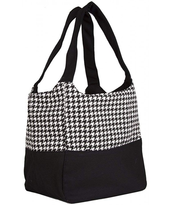 Ever Moda Black Houndstooth Canvas