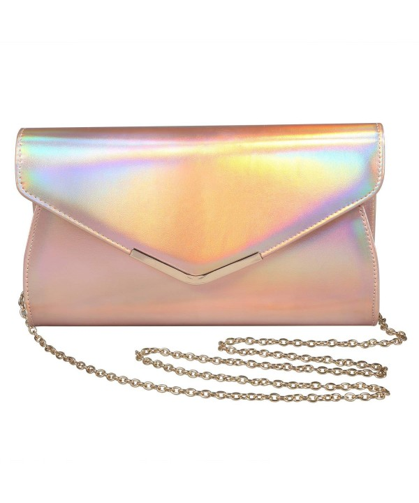 Iridescent Leather Evening Shoulder Crossbody